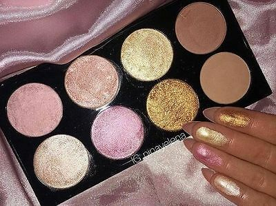Makeup Revolution  Palette Golden Sugar 2 Blush Bronze & Highlighter  Rose Gold