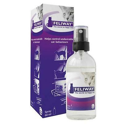 Feliway Spray for Cat 60 ml bottle Stress Relief Urine Spraying & Scratching