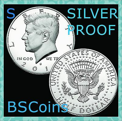 2017 S Kennedy Half Dollar SILVER PROOF Gem Deep Cameo - In Stock - Ship TODAY!!