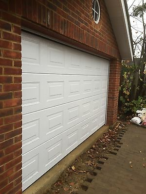 FULLY FITTED HORMANN GARADOR SECTIONAL GARAGE DOOR 14' Wide DOUBLE INSTALLED FIT