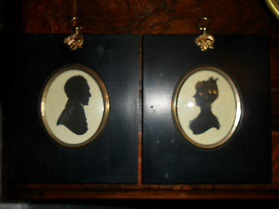 Pair Of V And A Silhouettes