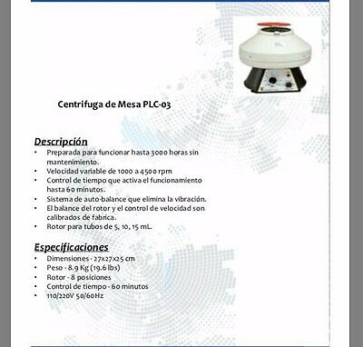 Table centrifuge PLC 03 Ready to run up to 3000 hours without maintenance