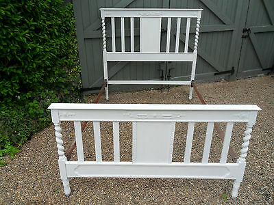 Hand Painted Vintage Barley Twist Shabby Chic Double Bed