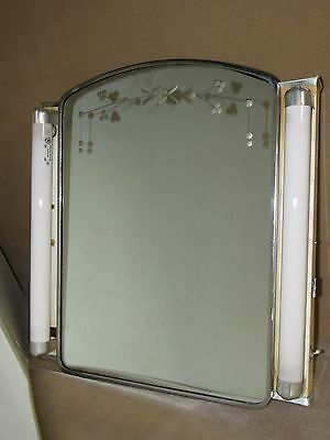 VINTAGE ARTCO Bathroom Mirror SKYSCRAPER MEDICINE CABINET MCM Hollywood Regency