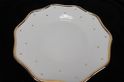 Inspirado Hand Painted in Seattle Gold Gilded Serving Platter Plate Dish