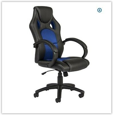 Office Gaming Chair Pu Leather Computer Desk Racing Chair High Back Race Style