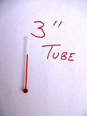 One Special 3 Inch Glass Replacement Thermometer Tube