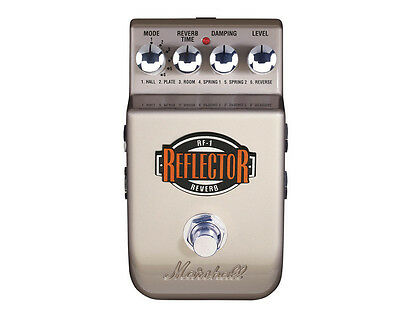 Marshall RF-1 Reflector Reverb Electric Guitar Effects Pedal No Battery Included