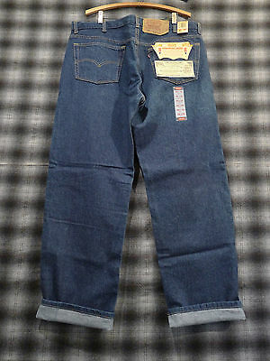 "NWT DEADSTOCK Vintage 1990s Levi's 501 Jeans DARK BLUE USA MADE 40"" W 30"" L"