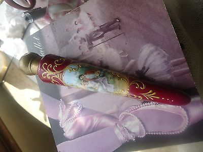 Antique/Vintage Victorian Courting Couple dark burgandy perfume scent lay down