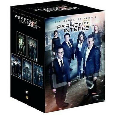 Person of Interest:The Complete Series Seasons 1-5 (DVD,27-Disc Set,2016) NEW