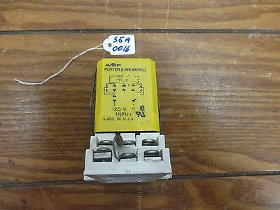 AMF Potter & Brumfield CLF-41-70010 Time Delay On Operate Relay 10Amp w/ base