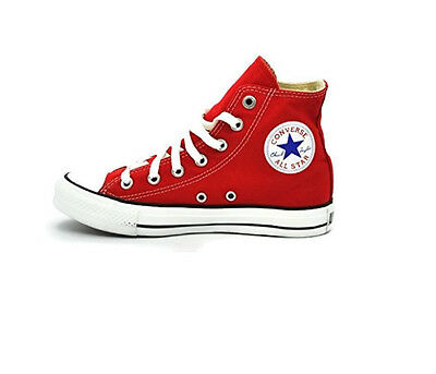 CONVERSE CHUCK TAYLOR All Star High Top Unisex Canvas Shoes, Red, Size 6.5