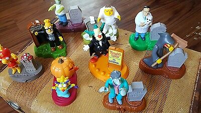 Lot of 9 Simpson's  Burger King  action figures  Halloween  toys  2001  2002