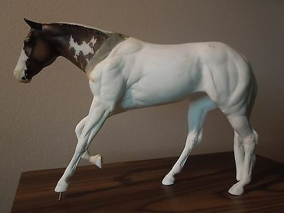 CM Artist Resin Horse Loping Amity with Breyer Lady Phase Head - Unfinished