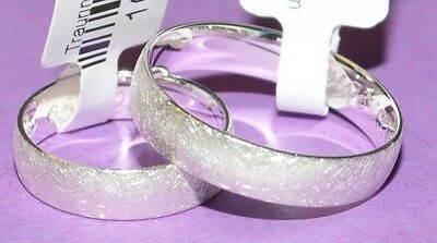 585 Gold White Wedding Rings Price For One Pair Ice Matte With Diamond 0, 04ct