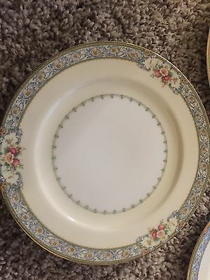 Vintage Meito China Made in Japan Countess 3 bread plates Flowers