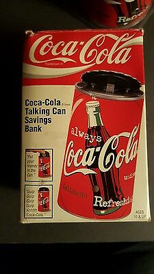 "NIB Vtg COCA-COLA Coke TALKING CAN SAVINGS BANK (Advertising) 5"" TALL, 1997, SEE"