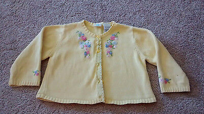 Gymboree baby toddler girls sweater 18-24 months see description yellow