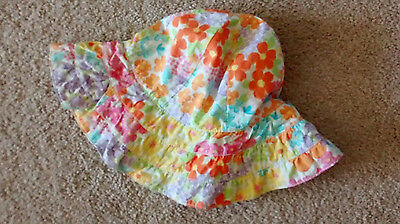 Gymboree girls hat size 8 and up Butterfly Blossoms EUC