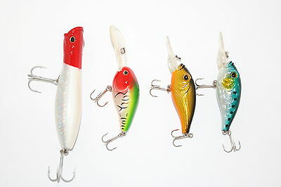 Assorted Lure Packs 4x Mixed Hardbody Lures AE4827