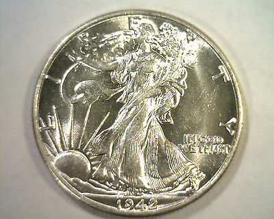 1942 Walking Liberty Half Choice About Uncirculated++ Ch.au++ Nice Original Coin