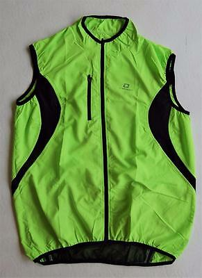 Cycling Bike Windproof safety Vest Gillet sleeveless High Visible Uni Size
