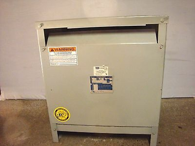GS/ Hevi-Duty 37.5 kVA Distribution Transformer. T7H37. Excellent. 3 phase