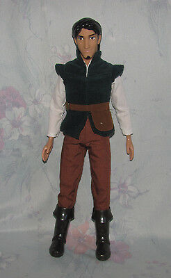 """Disney Flynn Rider from Tangled - Ken-Style Doll 12"""" - Green Vest, Brown Boots"""