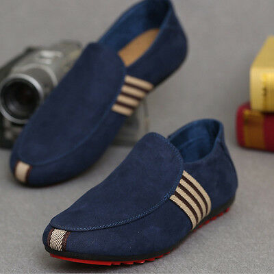 Men Loafer Slip On Shoes Fashion Breathable Casual Canvas Flat Boat Driving Shoe