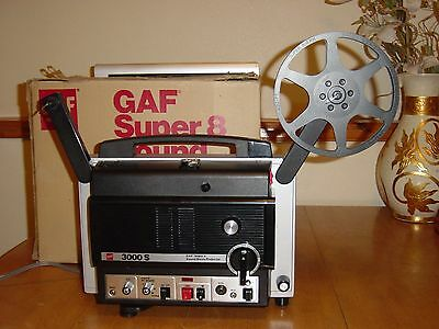 GAF 3000S SUPER 8 Sound Movie Film Projector Variable Speed Control