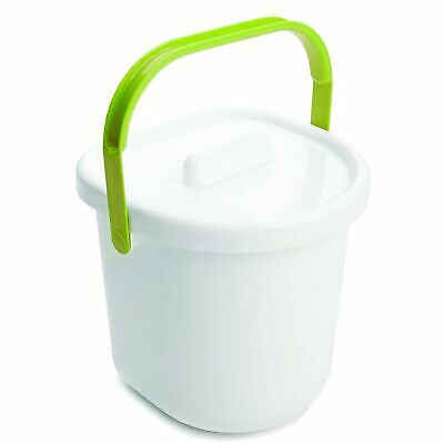 The Neat Nursery Co. Baby Child Nappy Diaper Waste Disposal Pail - White / Lime