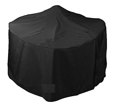 Small Round Outdoor Durable Fire Pit Blackberry Black Fabric Cover