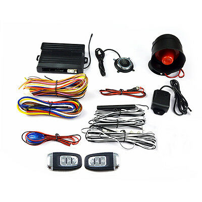 Buy General Purpose Car 1-Way Alarm Security & Remote Start System Kits New SP92