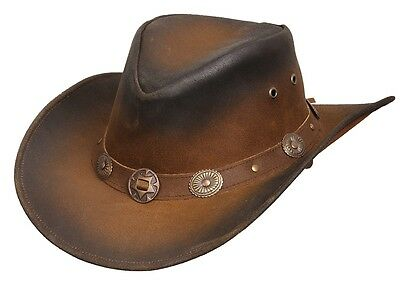 Scippis Rugged Earth Leather hat Cowboy Hat Western Hat, Tombstone, S-XL