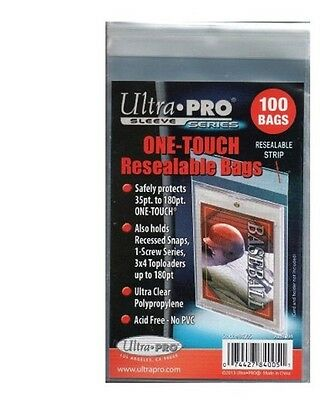 Ultra Pro One Touch Reasealable Bags. 1 Pack = 100 Sleeves