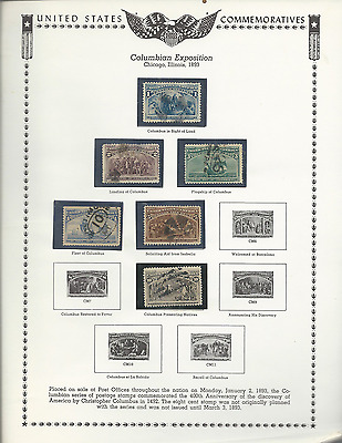 Usa Commemoratives 1893 To 1979 Stamp Album Over 500 Stamps, 6 S/s, Mnh & Used