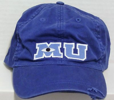Walt Disney Monsters Inc University M U MU Blue Baseball Hat Cap Adult BRAND NEW