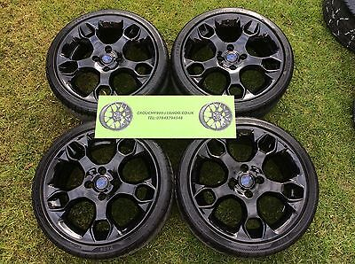 "4 X Genuine 17"" Ford Fiesta Zetec S Alloy Wheels And Tyres+Gloss Black+Snowflake"