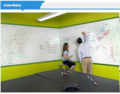 3 Colors  Single Side Adhesive Writing Whiteboard Dry Erase Board For Office