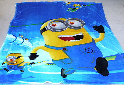 30pc Wholesale Large Kids Fleece Blanket MINIONS Polar Throw 1.5M x 2M Clearance