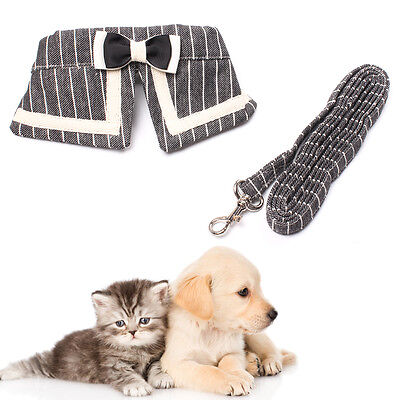Cute Bow Harness Leash Set Comfortable Soft for Dog & Cat Safety Walking Running