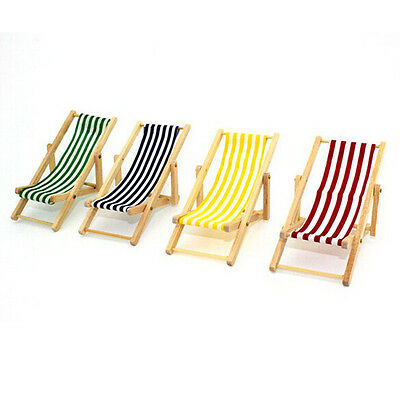 New House Accessories 1:12 Beach Chair Outdoor Garden Dolls Chair Foldable 1pcs