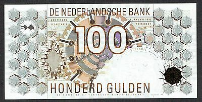Netherlands 100 Gulden 1992 UNC Steenuil type3 P101 1305420824