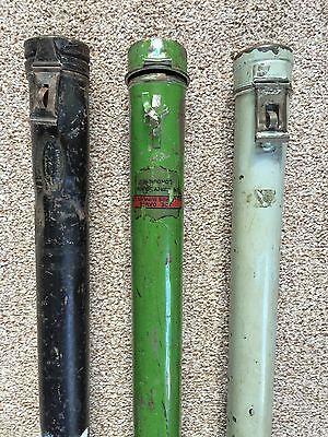 Vintage Metal Snooker Billiard Pool Cue Cases by Burroughs & Watts, Joe Davis