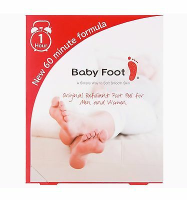 BABY FOOT Exfoliation Smooth Feet Skin Exfoliant Peel New 60 min Formula Pack
