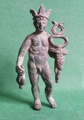 Beautiful Roman Bronze Figurine II - III century AD - 54,4 mm
