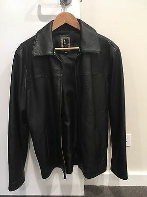Men's Genuine Leather Jacket Rogue Size S