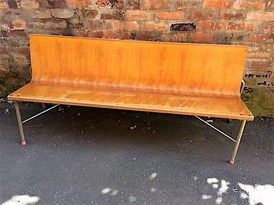 Vintage Church Pew Bench Seat Chair Booth Cafe Bar Restaurant Pub Antique Retro