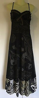 Lovers Size 12 Evening Formal Cocktail Dress Black And Khaki